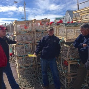 Lobster traps and fishers